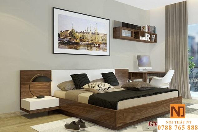 giường ngủ đẹp, giường ngủ hiện đại, giường gỗ công nghiệp