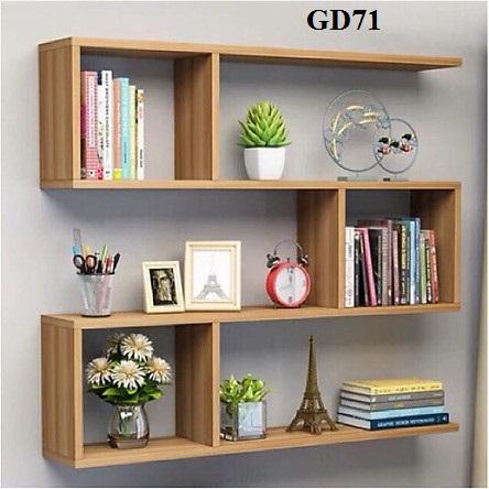 giá sách đẹp, giá sách trang trí, giá sách gỗ công nghiệp