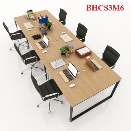 BÀN HỌP CHÂN SẮT BHCS3M6