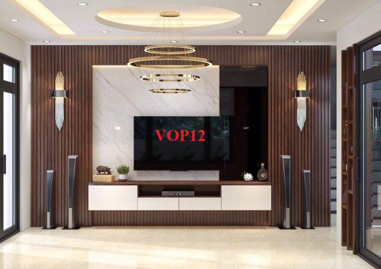 vách ốp trang trí tường, ốp tường đẹp, ốp tường hiện đại, kệ tivi hiện đại